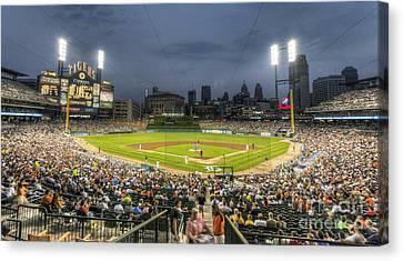 0101 Comerica Park - Detroit Michigan Canvas Print by Steve Sturgill