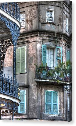 0254 French Quarter 10 - New Orleans Canvas Print by Steve Sturgill