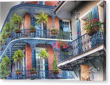 0255 Balconies - New Orleans Canvas Print by Steve Sturgill