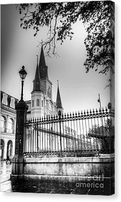 0261 St. Louis Cathedral - New Orleans Canvas Print by Steve Sturgill