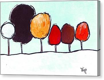03 Trees Canvas Print by Mirko Gallery