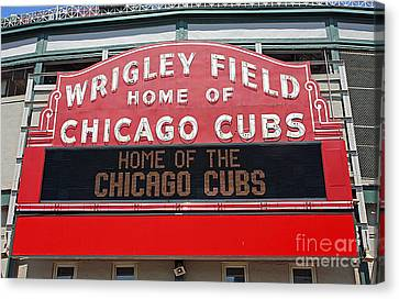 0334 Wrigley Field Canvas Print by Steve Sturgill