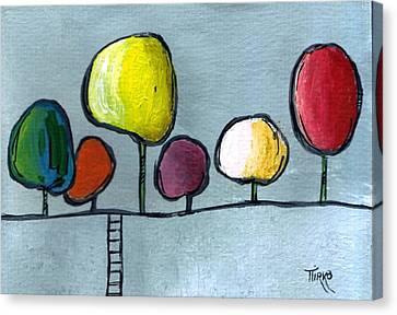 07 Trees Canvas Print by Mirko Gallery