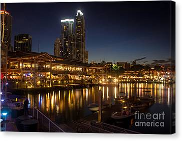 Miami's Bayside Market Place Canvas Print by Rene Triay Photography