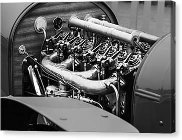 1910 Benz 22-80 Prinz Heinrich Renn Wagen Engine Canvas Print by Jill Reger