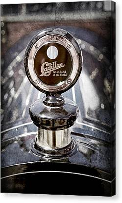 1911 Cadillac Roadster Hood Ornament - Moto Meter Canvas Print by Jill Reger