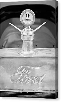 1915 Ford Depot Hack Emblem - Moto Meter Hood Ornament Canvas Print by Jill Reger