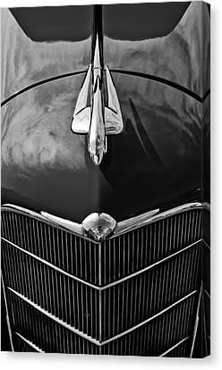 1934 Oldsmobile Hood Ornament Canvas Print by Jill Reger
