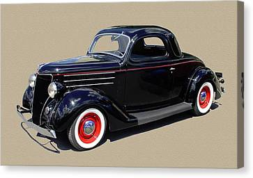 1936 Ford 3 Window Coupe Canvas Print by Jack Pumphrey