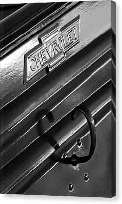 1937 Chevrolet Custom Pickup Emblem Canvas Print by Jill Reger