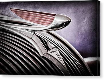 1937 Hudson Terraplane 4 Door Sedan Hood Ornament - Emblem Canvas Print by Jill Reger
