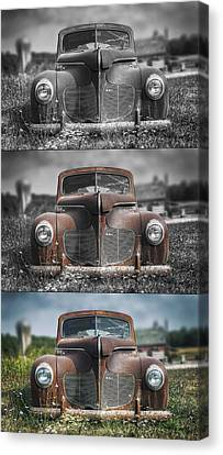 1940 Desoto Deluxe Triptych Canvas Print by Scott Norris