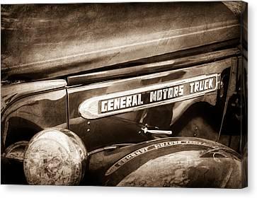1940 Gmc General Motors Truck Emblem Canvas Print by Jill Reger