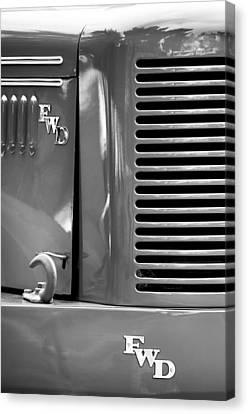 1950 Four Wheel Drive Pumper Fire Truck Emblems Canvas Print by Jill Reger