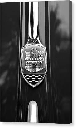 1952 Volkswagen Vw Emblem Canvas Print by Jill Reger