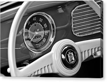 1952 Volkswagen Vw Steering Wheel Emblem Canvas Print by Jill Reger