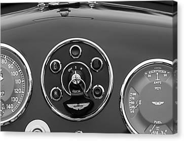 1953 Aston Martin Db2-4 Bertone Roadster Instrument Panel Canvas Print by Jill Reger