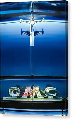 1954 Gmc Pickup Truck Hood Ornament - Emblem Canvas Print by Jill Reger