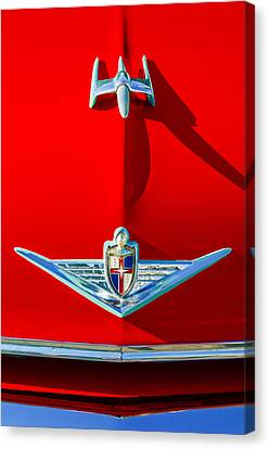 1954 Lincoln Capri Hood Ornament Canvas Print by Jill Reger