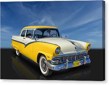 1956 Ford Fairlane Club Sedan Canvas Print by Frank J Benz