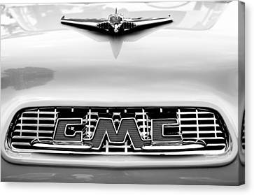 1956 Gmc 100 Deluxe Edition Pickup Truck Hood Ornament - Grille Emblem Canvas Print by Jill Reger
