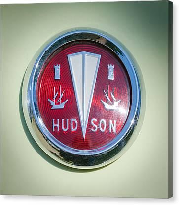 1956 Hudson Rambler Station Wagon Hood Ornament - Emblem Canvas Print by Jill Reger