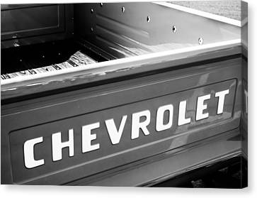 1957 Chevrolet Pickup Truck Emblem Canvas Print by Jill Reger