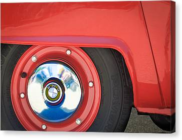 1958 Bmw Isetta 300 Wheel Emblem Canvas Print by Jill Reger