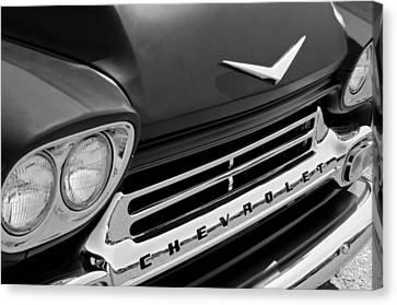 1959 Chevrolet Apache Front End Canvas Print by Jill Reger