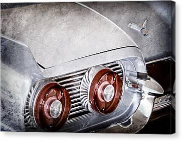 1959 Ford Thunderbird 2 Door Hardtop Taillight Emblem Canvas Print by Jill Reger