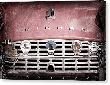 1960 Triumph Tr3 Grille Emblems Canvas Print by Jill Reger