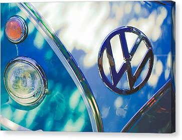 1961 Volkswagen Vw Transporter Emblem Canvas Print by Jill Reger
