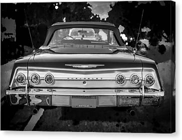 1962 Chevrolet Impala Ss Bw Canvas Print by Rich Franco