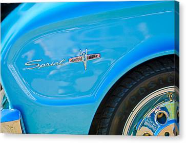 1963 Ford Falcon Sprint Side Emblem Canvas Print by Jill Reger