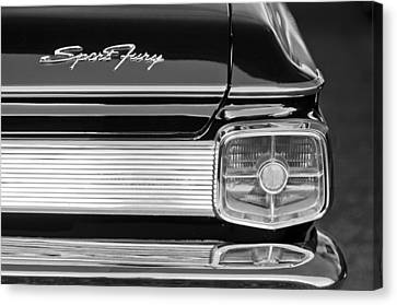 1963 Plymouth Sport Fury Taillight Emblem Canvas Print by Jill Reger