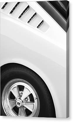1965 Shelby Mustang Gt350 Wheel Emblem Canvas Print by Jill Reger
