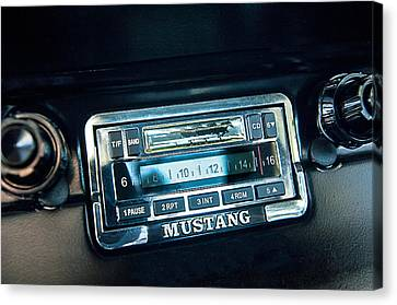 1965 Shelby Prototype Ford Mustang Radio Canvas Print by Jill Reger