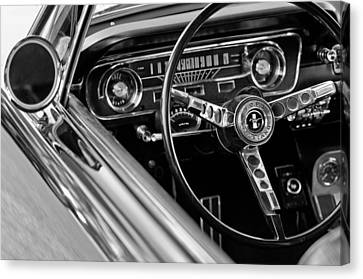 1965 Shelby Prototype Ford Mustang Steering Wheel Canvas Print by Jill Reger