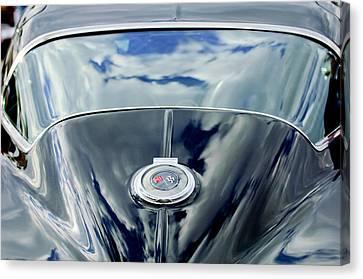 1967 Chevrolet Corvette Rear Emblem Canvas Print by Jill Reger