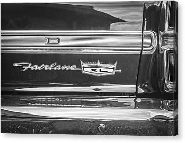 1967 Ford Fairlane 500xl Bw Canvas Print by Rich Franco