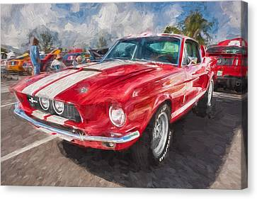 1967 Ford Shelby Mustang Gt500 Painted  Canvas Print by Rich Franco