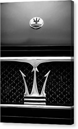 1967 Maserati Ghibli Grille Emblem Canvas Print by Jill Reger