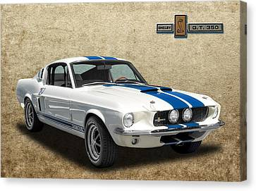1967 Shelby Mustang Gt-350 Canvas Print by Frank J Benz