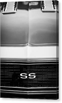 1968 Chevrolet Camaro Ss Grille Emblem Canvas Print by Jill Reger