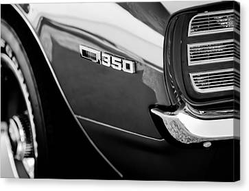 1969 Chevrolet Camaro Rally Sport 350 Emblem Canvas Print by Jill Reger