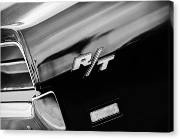 1969 Dodge Charger Rt Rear Emblem Canvas Print by Jill Reger