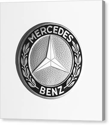 1969 Mercedes-benz 280 Sl Emblem Canvas Print by Jill Reger