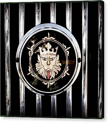 1969 Morgan Roadster Grille Emblem Canvas Print by Jill Reger