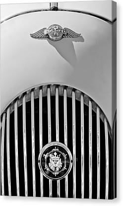 1969 Morgan Roadster Grille Emblems Canvas Print by Jill Reger