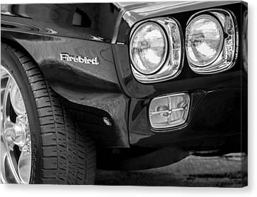 1969 Pontiac Firebird 400 Side Emblem Canvas Print by Jill Reger